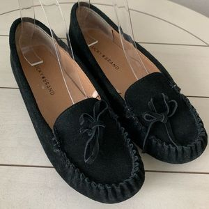 Lucky Brand Loafers Moccasins Flats Black Suede 6